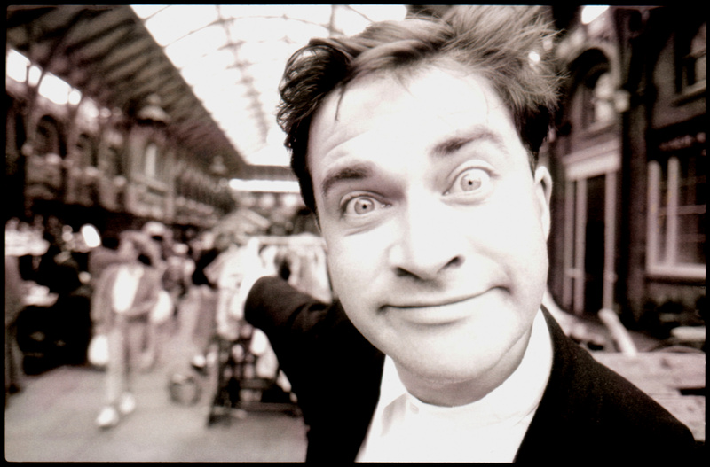 Comedian Harry Enfield in Covent Garden, 1988