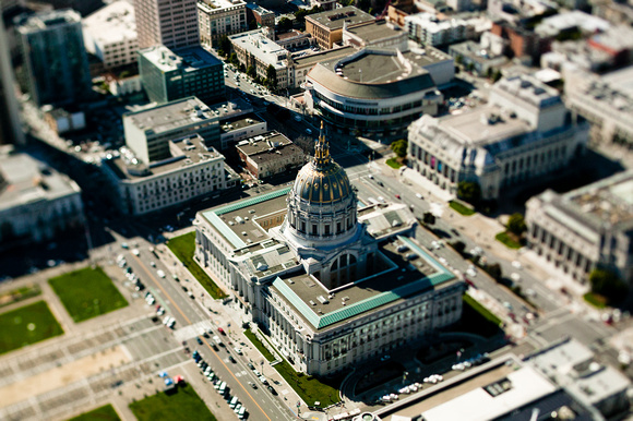 Aerial view of San Francisco City Hall