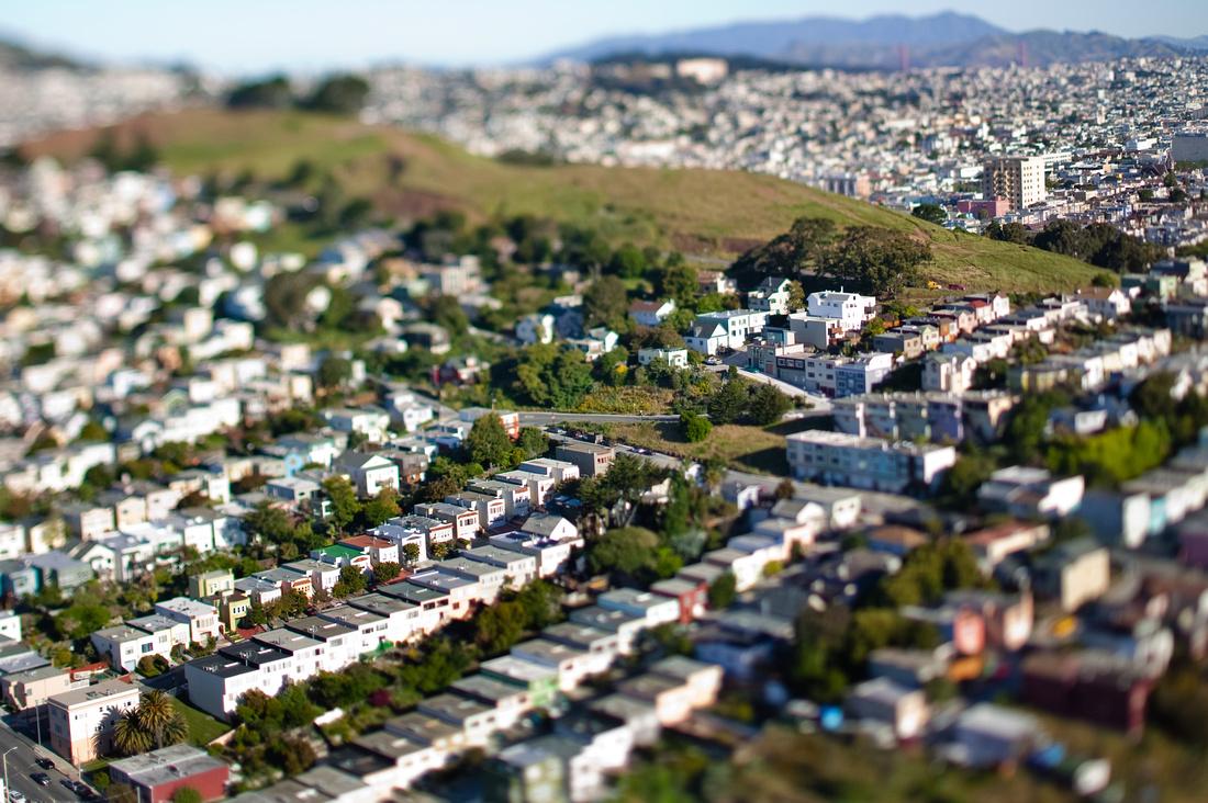 Aerial View of Bernal Heights