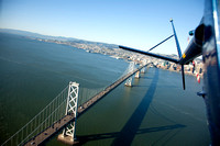 Bay Bridge from a Hughes 500C