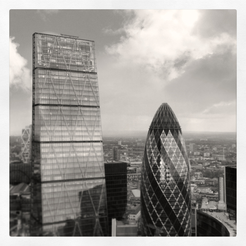 The Gherkin and The Cheese Grater