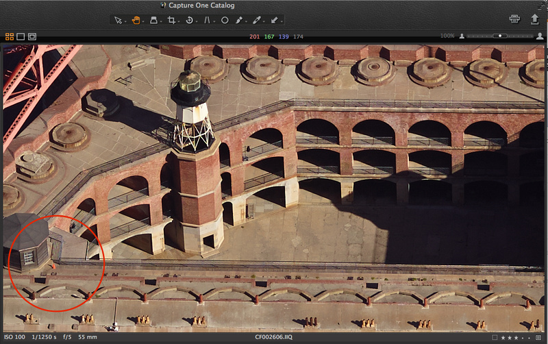 Aerial photo of Fort Point in San Francisco