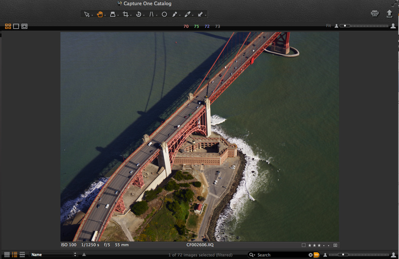 Aerial view of Fort Point in San Francisco, a civil war fort next to the Golden Gate Bridge